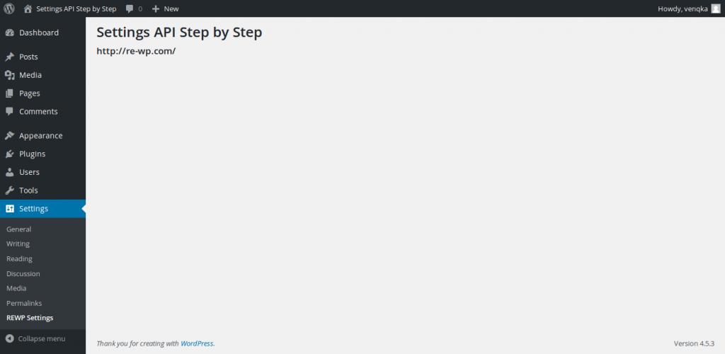 Resources on WordPress Settings API Step by Step settings